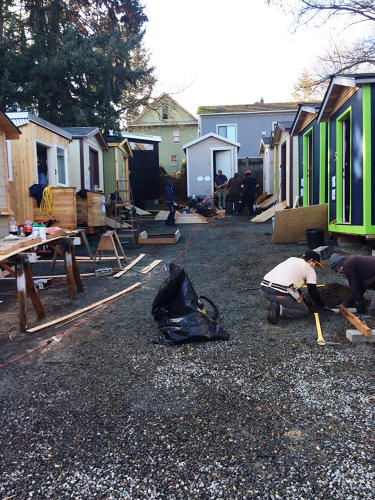 <p>Everyone living in the tiny houses will get help with services like basic food, school, and finding another home.</p>