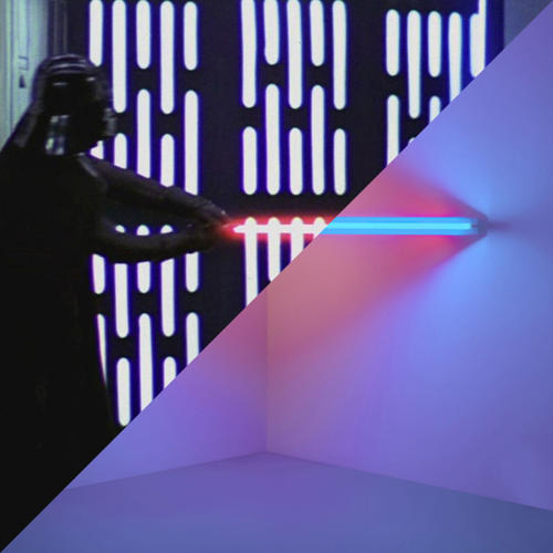 <p>George Lucas, Star Wars: Episode IV. A new hope, 1977 vs. Dan Flavin, Untitled (to Virginia Dwan), 1971</p>