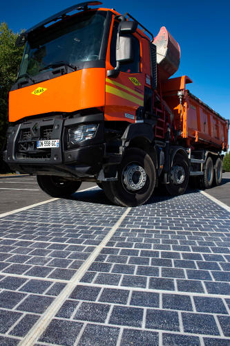 <p>The panels, says the manufacturer, require about 215-square-feet of surface area to generate enough electricity to power a home.</p>