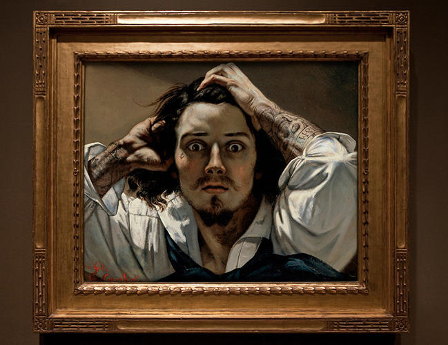 <p>&quot;The Desperate Man&quot; by Gustave Courbet</p>