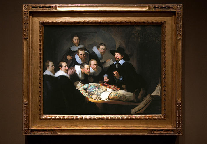 <p>Rembrandt's 'Anatomy Lesson of Dr. Nicolaes Tulp'</p>
