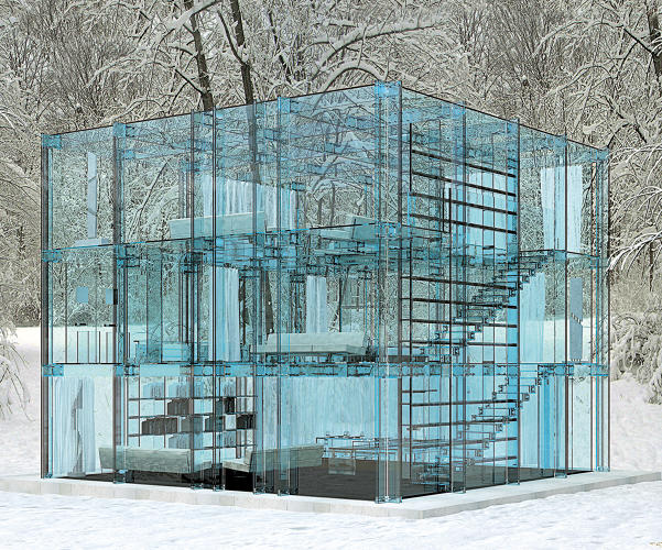 <p>Glass House by Santambrogiomilano; Milan, Italy.</p>