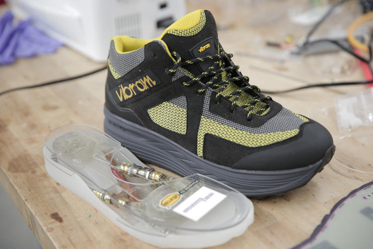 <p>It can also run electronics embedded in the shoe itself, like a Wi-Fi hotspot or a tracker.</p>