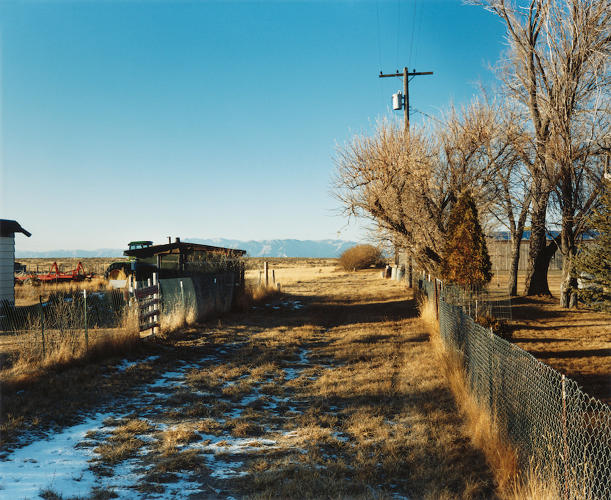 <p>Looking north toward the Sawtooth Mountains, Atomic City, Idaho, 1986. © 2016 David T. Hanson</p>