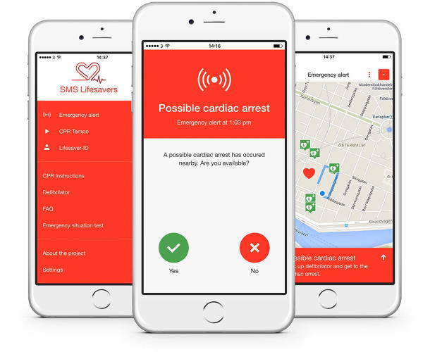 <p>The app gives volunteers directions to reach the victim.</p>