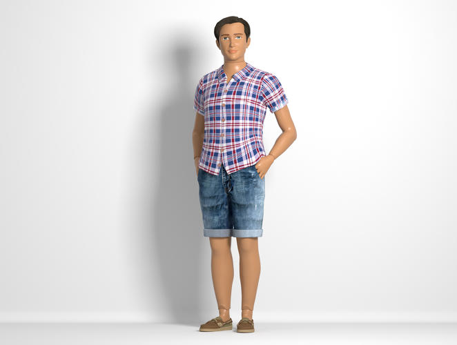 <p>The average man would have to be 20 inches taller, with an extra 11 inches of chest circumference, to look like a human-sized version of the doll.</p>