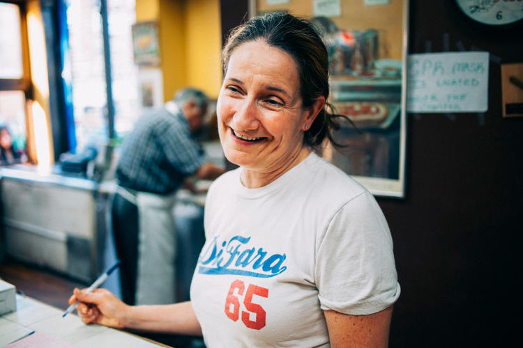 <p>Maggie, a manager at Di Fara Pizza in Midwood, Brooklyn</p>