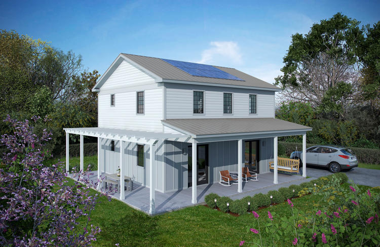 <p>The company currently makes nine different models of net-zero houses.</p>