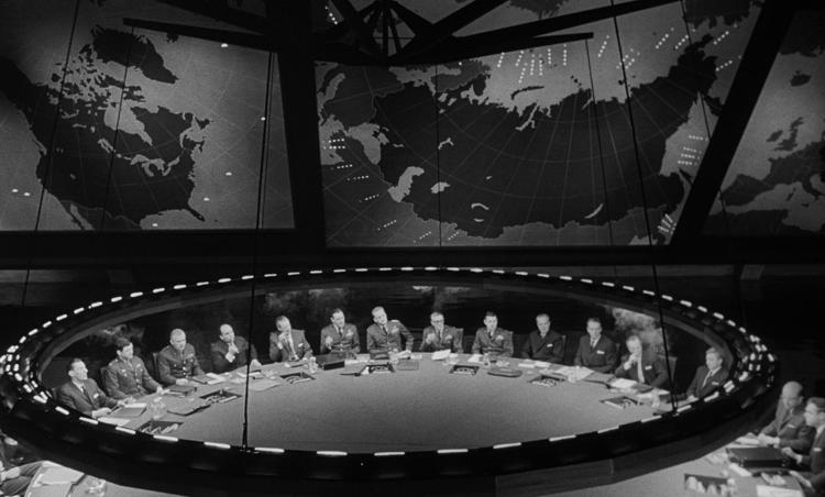 <p>Dr. Strangelove or: How I Learned to Stop Worrying and Love the Bomb, 1964</p>