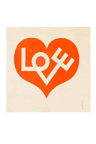 <p>Love Heart, Environmental Enrichment Panel # 3017, Alexander Girard for Herman Miller, 1971, cotton, 119,3 x 119,3 cm</p>