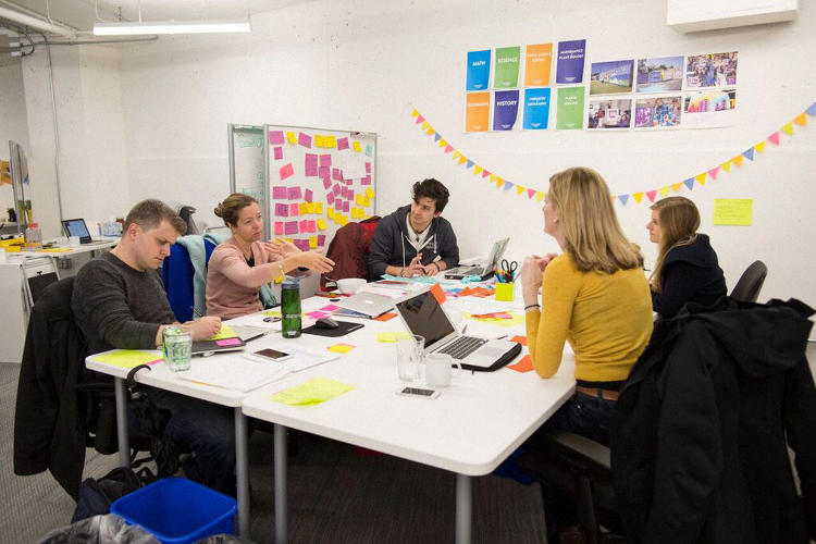 <p>MIT-trained data scientists are coding away, entrepreneurs are writing business plans, and designers are at standing desks drawing mock-ups of potential products.</p>