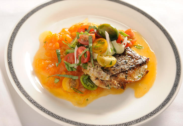 <p>Grilled snapper—Singapore Airlines</p>
