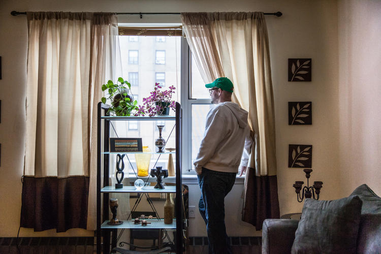 <p>Patrick Dolby, 46, is disabled by AIDS, depends on food pantries to get by. He can offer a remarkable accounting for his living expenses, to the penny.</p>