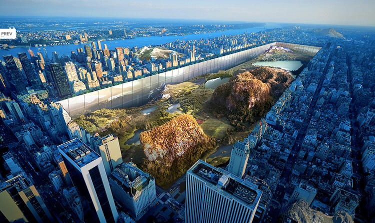 <p>This concept skyscraper called &quot;New York Horizon&quot; involves lowering Central Park and then building a skyscraper around it.</p>