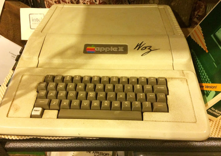 <p>An Apple II, the computer that helped Apple become a computer powerhouse, signed by cofounder Steve Wozniak.</p>