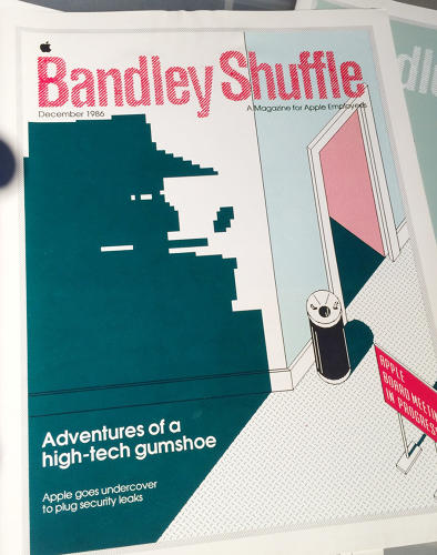 <p>A copy of the December, 1986 issue of <em>Bandley Shuffle</em>, a magazine for Apple employees.</p>