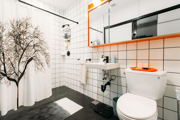 <p>Bathrooms were purpose designed to feel luxurious.</p>