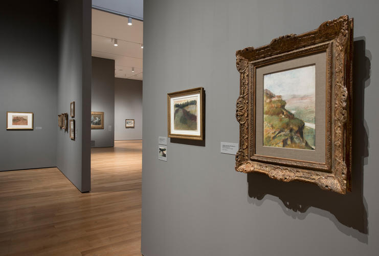 <p><em>Edgar Degas: A Strange New Beauty</em> at MoMA with Worsted on the walls</p>
