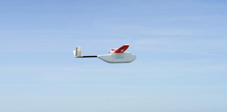 <p>In July, San Francisco-based Zipline plans to begin using its new drones to deliver blood from Rwandan blood banks to rural areas for emergency transfusions.</p>