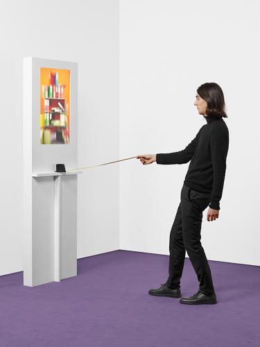 <p>ECAL/Kelian Maissen, Mathieu Palauqui &amp; Guillaume Simmen<br /> A tape measure allows users to navigate through the depth of a scene.</p>