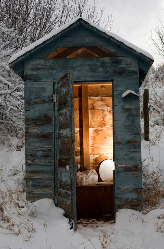 <p>Outhouse, near Steamboard Springs, Colorado</p>