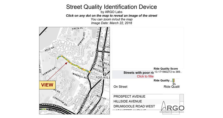 <p>To help, Argo Labs has the Street Quality Identification Device, or &quot;SQUID,&quot; an accelerometer-camera combo that produces a complete map of road surfaces.</p>