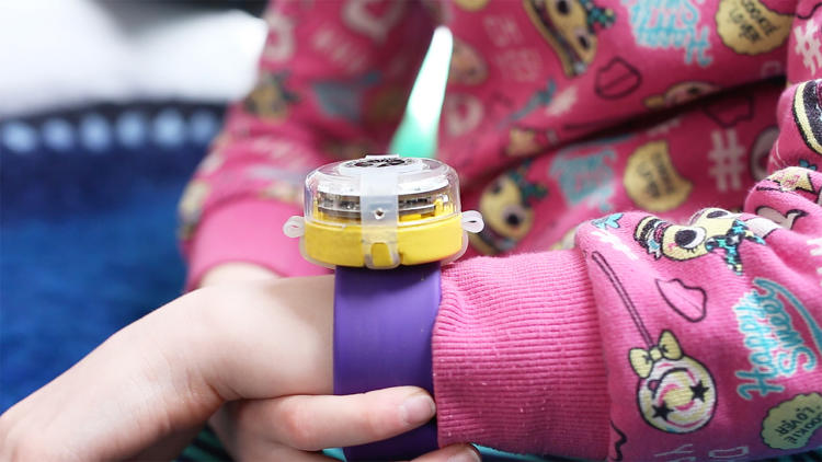 <p>The wearable was designed to be a gadget that kids can adapt and reprogram.</p>