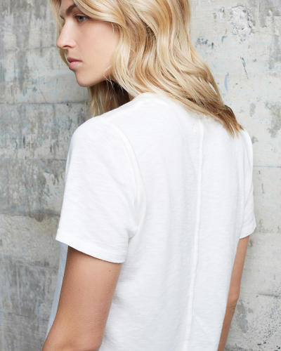 <p>The team developed an extra seam at the back of the shirt, which ensures that the fabric doesn't bunch up or fall in an ugly way.</p>