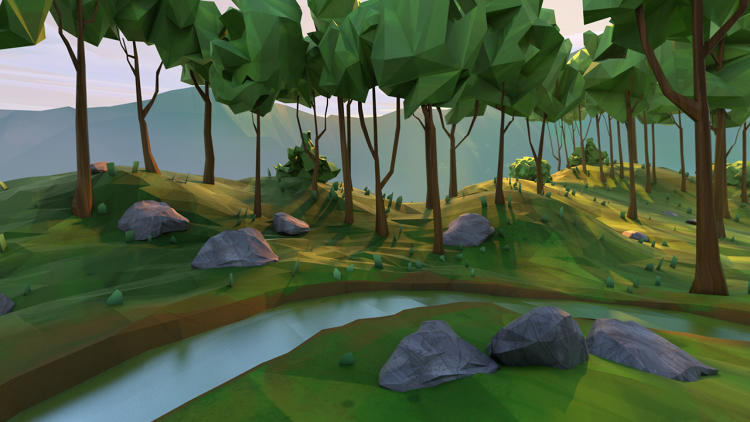 <p>When you first load Daydream, you're welcomed to a calm forest environment called Home. From here, you load apps.</p>