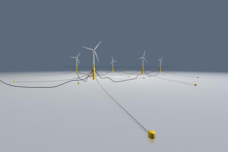 <p>The Hywind farm is the first deployment of a 2009 test project by Norwegian company Statoil, which makes oil rigs.</p>