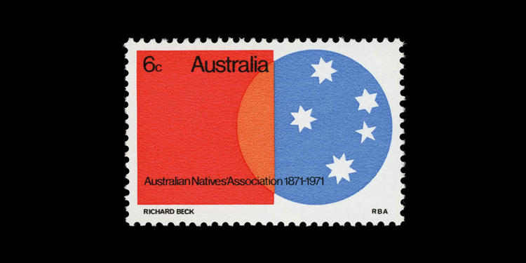 <p>Australia, 1971; Australian Natives' Association Centenary. Designed by Richard Beck</p>