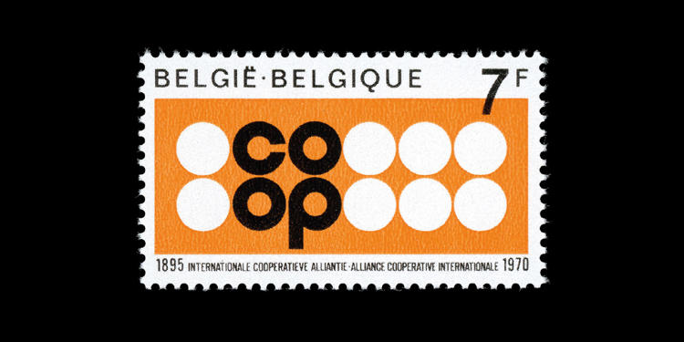 <p>Belgium, 1970; 75th Anniversary, International Co-operative Alliance. Designed by J Malvaux.</p>