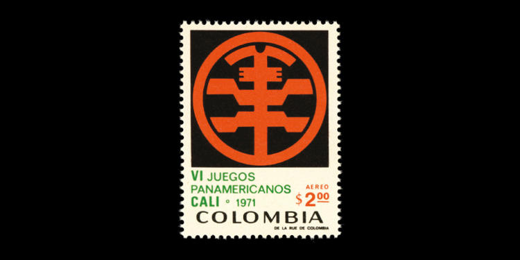 <p>Columbia, 1971; 6th Pan American Games (Cali). Designer unknown</p>