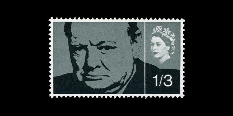 <p>Great Britian, 1965; Churchill Commemoration. Designed by David Gentleman.</p>