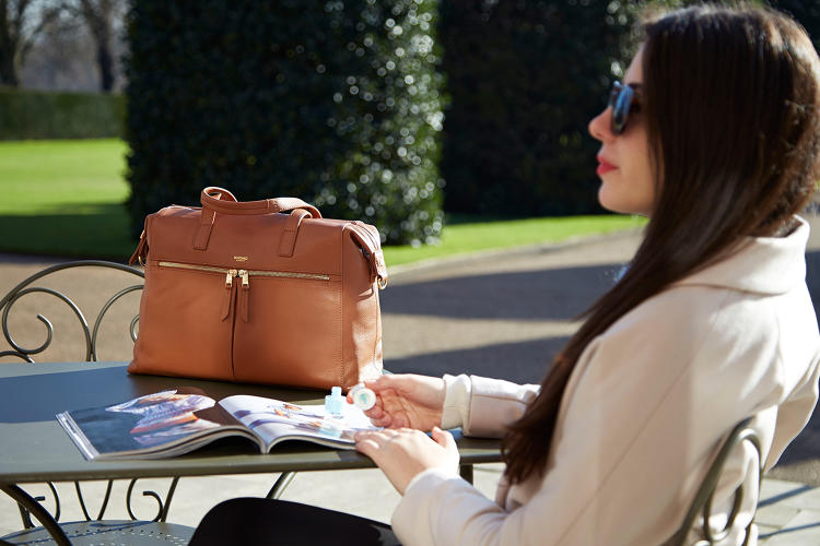 <p>The Audley ($350) is a more traditional briefcase bag for professional women.</p>
