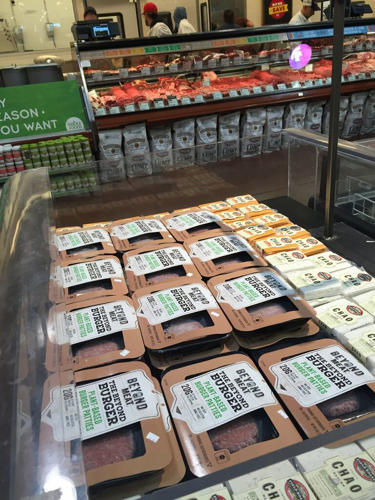 "<p>Beyond Meat's CEO envisions this space will be called the ""protein"" aisle, in the same way that dairy aisles have made room for almond and soy milk.</p>"