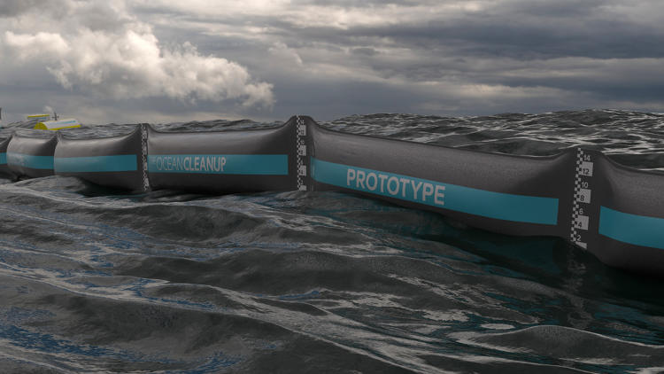 <p>In the next year, his Ocean Cleanup team will throw out biodegradable items, hoping it will envelop whatever is in its way.</p>