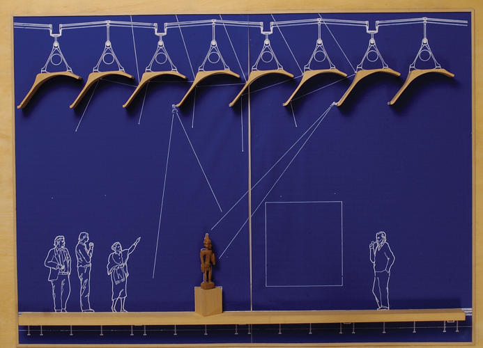 <p>Bas relief on blueprint, The Menil Collection, Houston (Texas). 1982–1987</p>