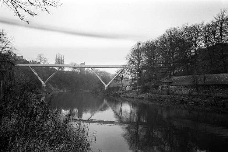 <p>View of Kingsgate Bridge. Durham, 1963.</p>
