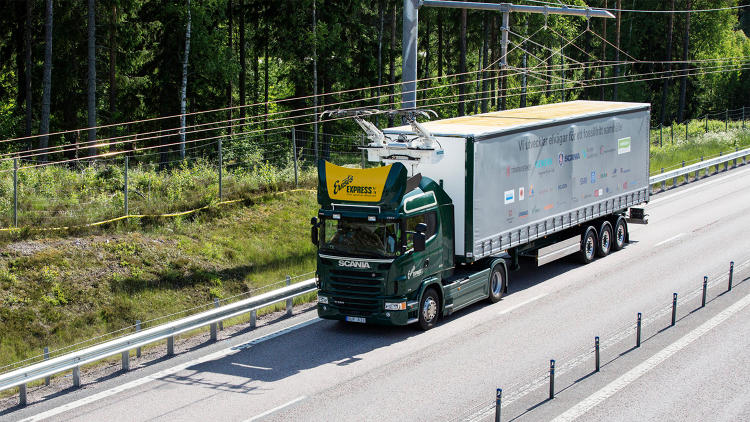 <p>Sweden's &quot;eHighway&quot; is a 1.2 mile stretch of public road equipped with overhead power lines.</p>