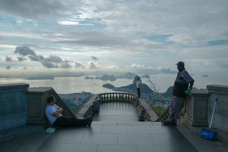 <p>Opposite the Christ the Redeemer statue in Rio de Janeiro</p>