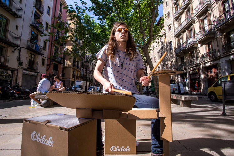 <p>Could a full drum kit, designed from scratch with cardboard, make drumming more accessible to everyone?</p>