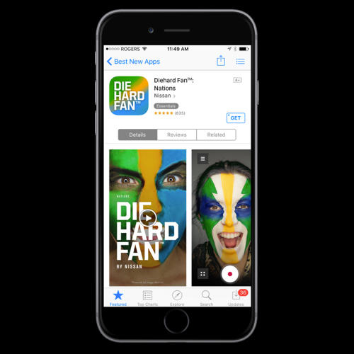 <p>Nissan's Die Hard Fan face painting app gets an Olympic makeover.</p>