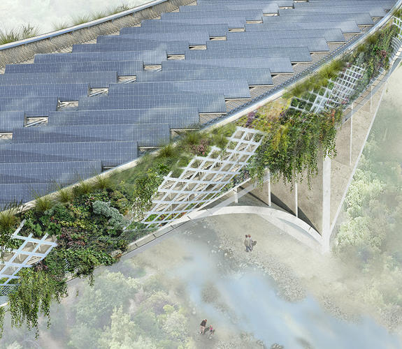 <p>By wrapping the bridge in a tunnel, acoustically insulated walls could help cut traffic noise by 65%.</p>
