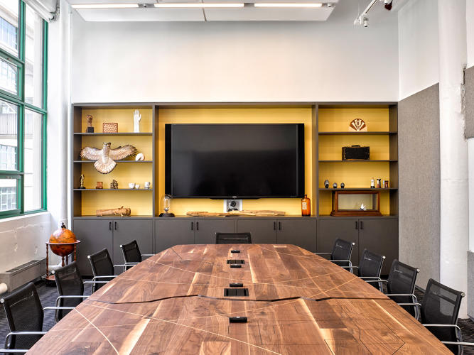 <p>Gensler helped many of the makers hired to build furniture obtain Declare labels for their products, which certifies that they contain no toxins.</p>