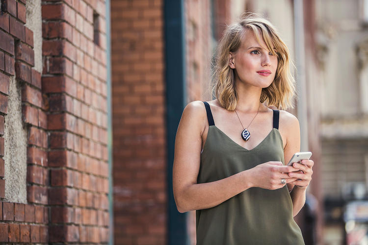 <p>The Bellabeat Leaf Urban, which launches today, is a pebble-like device that can be worn as a bracelet, a necklace, or a clip.</p>