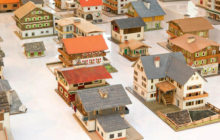 <p>Oliver Croy and Oliver Elser, The 387 Houses of Peter Fritz (1916 –1992), Insurance Clerk from Vienna, 1993–2008 (detail). Selection of 126 mixed-medium models, dimensions variable.</p>