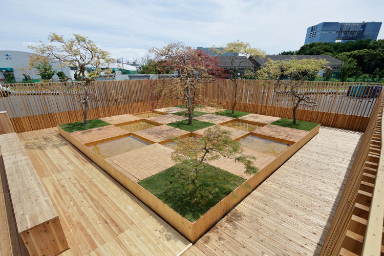 <p>Using Japanese cedar from Sumitomo Forestry, architect Kengo Kuma constructed a water garden that will be used at the Tokyo Olympics in 2020.</p>