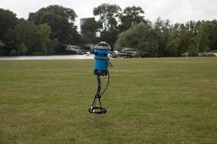 <p>The drone works in three stages.</p>