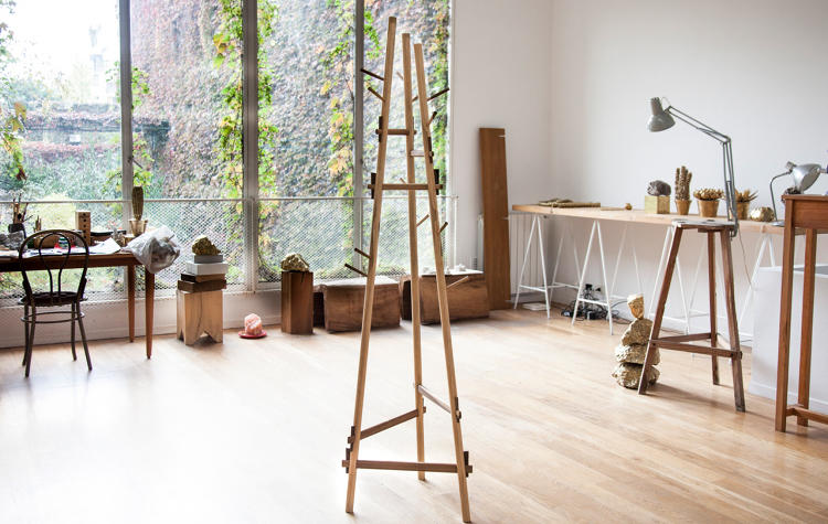 <p>Designer and carpenter Alejandro Sticotti and 15 craftsmen finish the pieces by hand, using local wood and Japanese joinery techniques.</p>